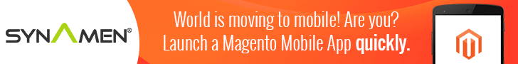 Synamen provides Magento Mobile App for Ecommerce Stores